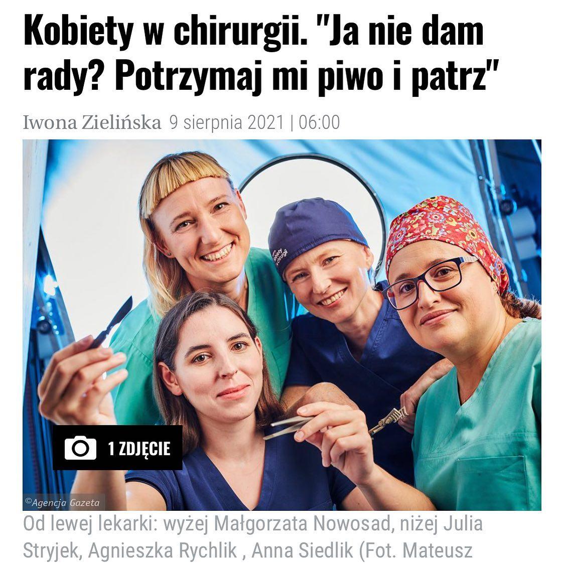 Kobiety w chirurgii w Dużym Formacie